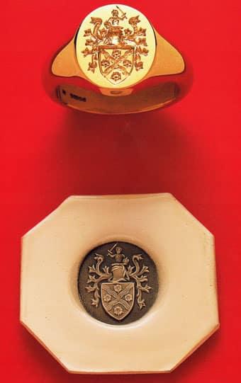 Seal Engraved Signet Rings
